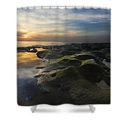Crater Lake Shower Curtain by Debra and Dave Vanderlaan