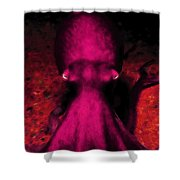Creatures Of The Deep - The Octopus - V4 - Violet Shower Curtain by Wingsdomain Art and Photography