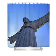 Cristo Rei Shower Curtain by Anonymous