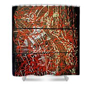 Crucifixion - Tile Shower Curtain by Gloria Ssali