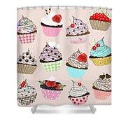 Cupcake  Shower Curtain by Setsiri Silapasuwanchai