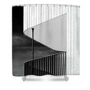 Curved Balcony Shower Curtain by Dave Bowman