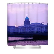 Custom House, Dublin, Co Dublin, Ireland Shower Curtain by The Irish Image Collection