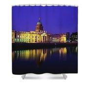 Custom House, Dublin, Co Dublin Shower Curtain by The Irish Image Collection