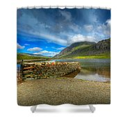 Cwm Idwal Shower Curtain by Adrian Evans