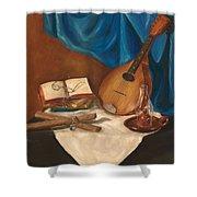 Dad's Mandolin Shower Curtain by Kathy Wood