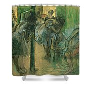 Dancers rehearsing Shower Curtain by Edgar Degas
