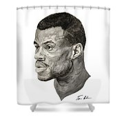 David Robinson Shower Curtain by Tamir Barkan
