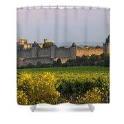 Dawn In Carcassonne Shower Curtain by Brian Jannsen