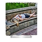 Dead On Arrival  Or  Doa Shower Curtain by Paul Ward