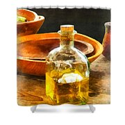 Decanter Of Oil Shower Curtain by Susan Savad