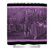 DECLARATION OF INDEPENDENCE in PINK Shower Curtain by ROB HANS