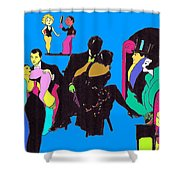 Deco Ads Color Shower Curtain by Mel Thompson