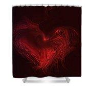 Deep Hearted Shower Curtain by Linda Sannuti