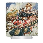 Defence Of Corunna Shower Curtain by C L Doughty