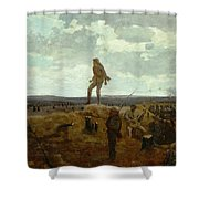Defiance - Inviting A Shot Before Petersburg Shower Curtain by Winslow Homer