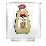 Deli Style Mustard Shower Curtain by George Pedro