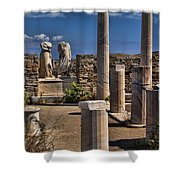 Delos Island Shower Curtain by David Smith