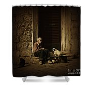 Dementia Shower Curtain by Andrew Paranavitana