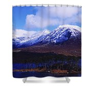 Derryclare Lough, Twelve Bens Shower Curtain by The Irish Image Collection