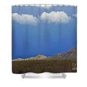 Desert Rain Shower Curtain by Methune Hively