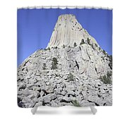Devils Tower National Monument, Wyoming Shower Curtain by Richard Roscoe