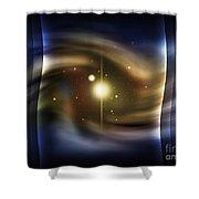 Digitally Generated Image Of Deep Space Shower Curtain by Vlad Gerasimov