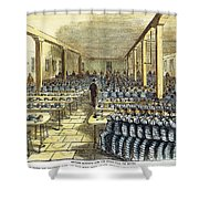 Dinner At Sing Sing, C1878 Shower Curtain by Granger