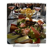 Dinner Is Served Shower Curtain by Dany Lison