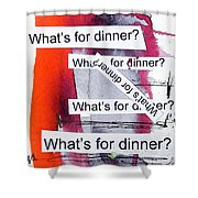 Dinner Shower Curtain by Linda Woods