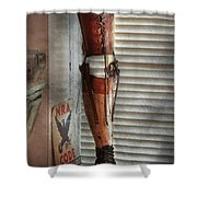 Doctor - A Leg Up In The Competition Shower Curtain by Mike Savad