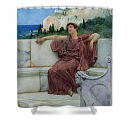 Dolce Far Niente Shower Curtain by Sir Lawrence Alma-Tadema