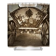 Donkey Cart Shower Curtain by Cliff  Norton
