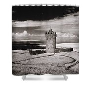 Doonagore Tower Shower Curtain by Simon Marsden