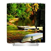 Down By The Riverside Shower Curtain by Karen Wiles