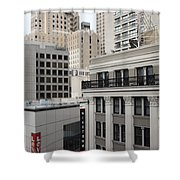 Downtown San Francisco Buildings - 5d19323 Shower Curtain by Wingsdomain Art and Photography
