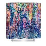 Dream Of Our Souls Awake Shower Curtain by Regina Valluzzi