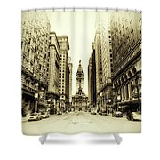 Dreamy Philadelphia Shower Curtain by Bill Cannon