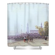 Dresden Shower Curtain by William Wyld