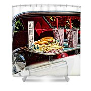 Drive-in Shower Curtain by Rudy Umans