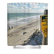 Dunes Rebuilding Keep Off Grass And Dune Area Cape Cod Shower Curtain by Matt Suess