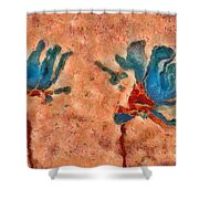 Duo Daisies - 02blt3dp1c Shower Curtain by Variance Collections