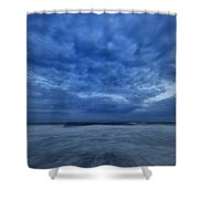 Dusk On Fire Island Shower Curtain by Rick Berk