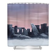 Dusk On The Winter Solstice At Stonehenge 1877 Shower Curtain by Alys Caviness-Gober