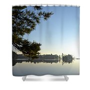 Early Morning On Lost Lake Shower Curtain by Michelle Calkins