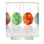 Easter Eggs Shower Curtain by Carlos Caetano