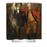Edward Viscout Ligonier Shower Curtain by Thomas Gainsborough