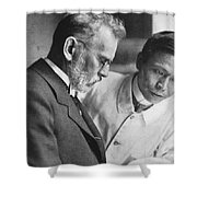Ehrlich And Hata, Discovered Syphilis Shower Curtain by Science Source
