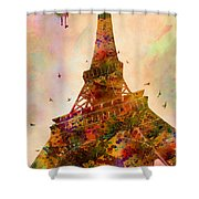 Eiffel Tower  Shower Curtain by Mark Ashkenazi
