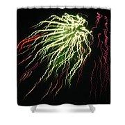 Electric Jellyfish Shower Curtain by Rhonda Barrett